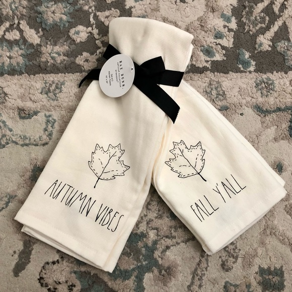 Rae Dunn Kitchen Towels Autumn Vibes & fall y'all